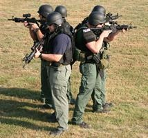 S.W.A.T Members Performing Training Exercise